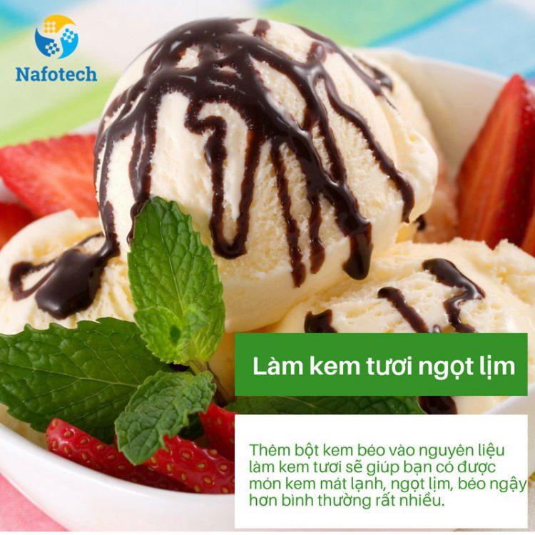 5 công dụng của bột kem béo gây bất ngờ - Làm kem tươi