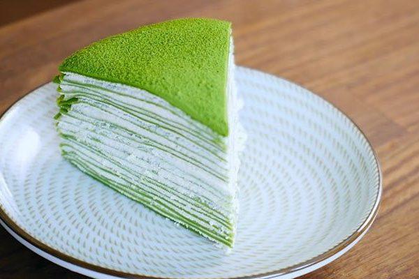 Cách làm bánh crepe trà xanh matcha nhiều lớp cực ngon