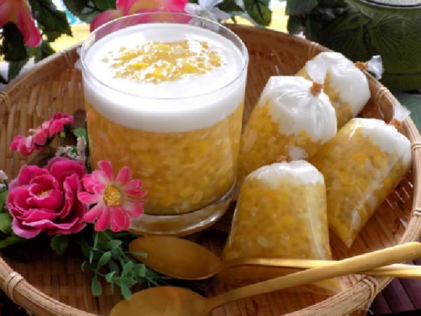 Cách làm chè bắp bột báng nước cốt dừa
