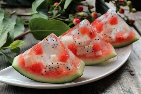 Cách làm thạch trái cây dưa hấu