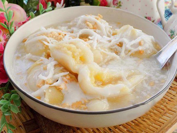 Cách làm chè trôi nước sầu riêng nước cốt dừa