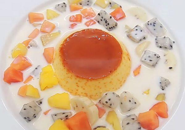 Cách làm chè caramen hoa quả nước cốt dừa thơm béo