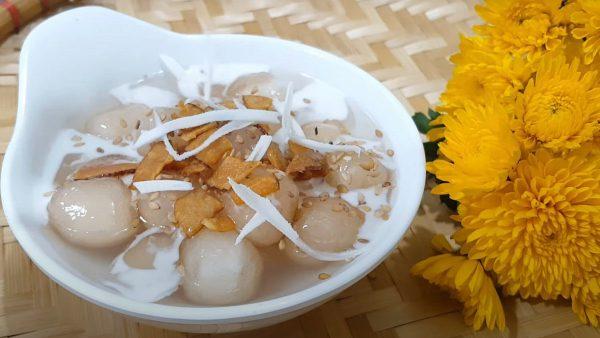 Cách làm chè bột lọc trân châu nước cốt dừa